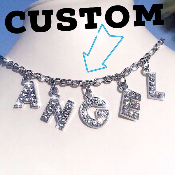 RHINESTONE CUSTOM WORD NECKLACE 💖