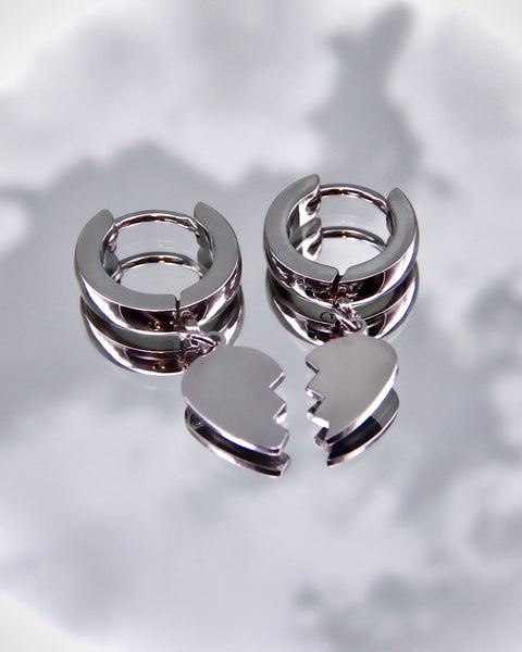 EMO HEART EARRINGS