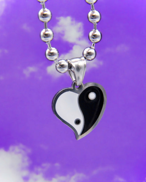 YIN YANG HEART NECKLACE