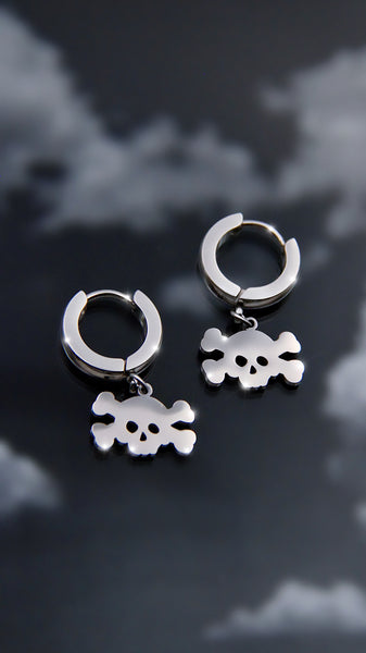 SKULL CROSS BONES EARRINGS
