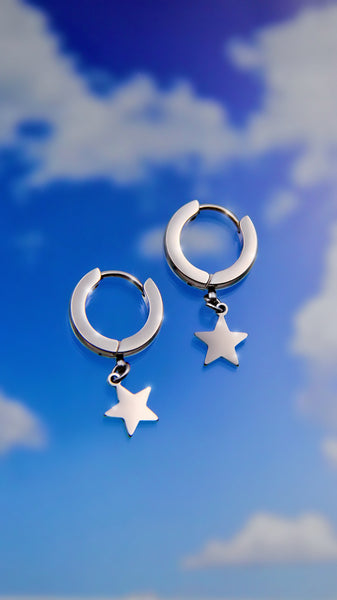 CYBER STAR EARRINGS