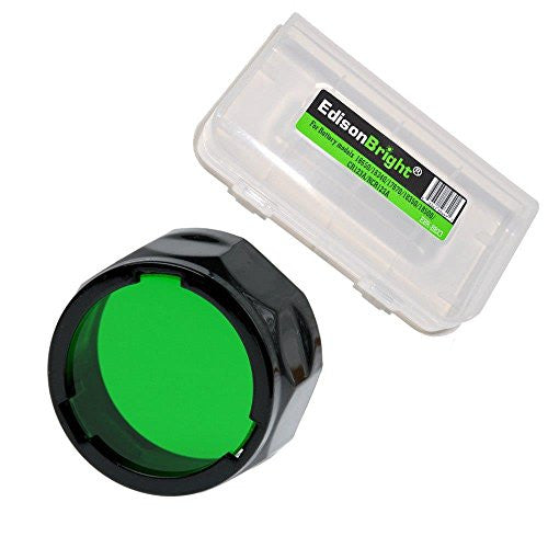 Fenix Filter Adapter, Green AOF-S-GREEN with EdisonBright BBX3 Battery Case for PD35, PD12, UC35