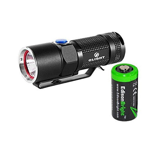 Olight S10 L2 400 Lumens CREE LED Flashlight EDC with EdisonBright CR123A Lithium Battery