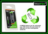 2 Pack EdisonBright EBR34 3400mAh 18650 rechargeable Li-ion protected batteries