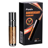 Fenix 15th Anniversary Special Edition 85 Lumen LED flashlight, unique rose gold plating with Fenix's insignia bundle including battery