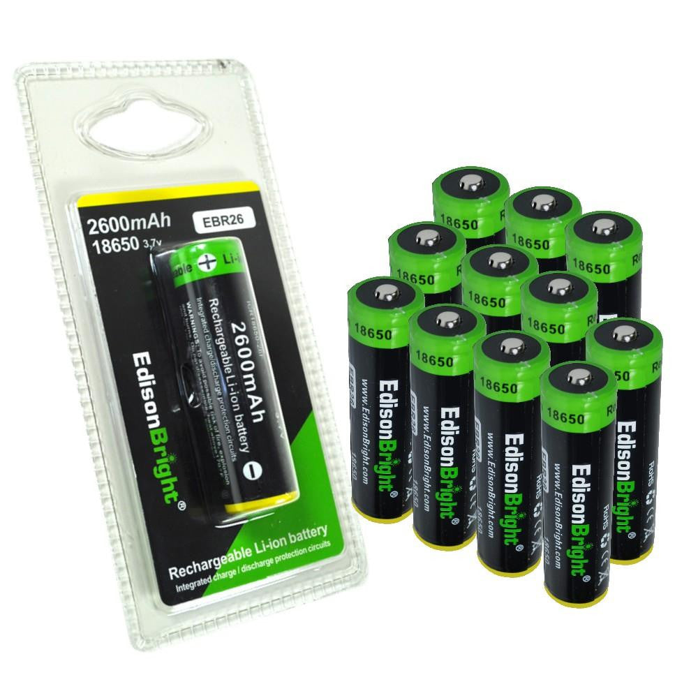 New 12 Genuine Individually Packed Edisonbright Ebr26 2600mah 18650 Li Protection Circuit Images Of Battery Ion 37v Rechargeable Protected