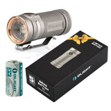 Titanium Limited Edition Olight S mini 550 Lumen CREE LED Flashlight (Bead Blasted Finish) EDC