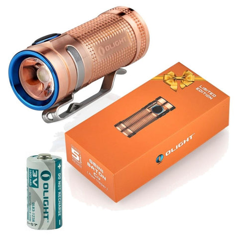 Olight S mini 550 Lumens CREE LED Flashlight solid Copper smini Limited Edition