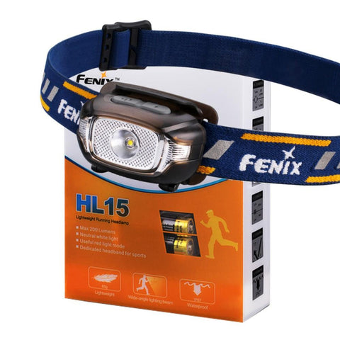 Fenix HL15 200 Lumen light weight CREE LED Headlamp (Black color body)