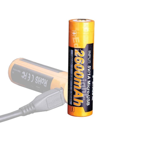 Fenix ARB-L18-2600U direct USB rechargeable 18650 2600mAh Li-ion battery