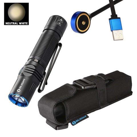 Olight M2R 1500 lumen USB Rechargeable  LED Tactical Flashlight Neutral White