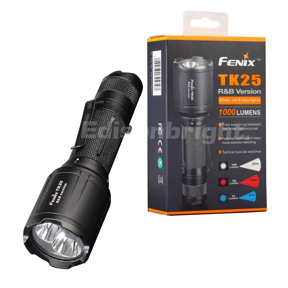 Brand New TK25RB 1000 Lumens CREE LED Tactical Flashlight RED/BLUE outputs