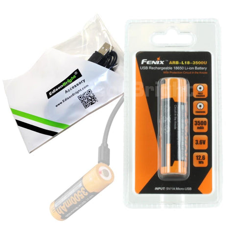 Sell one like this  Brand New Fenix ARB-L18-3500U 3500mAh 18650 direct USB rechargeable battery