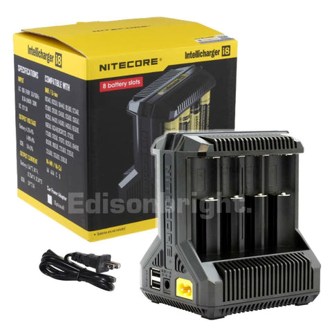 New Nitecore i8 smart batteries charger with 8 independent channels & PowerBank compatible