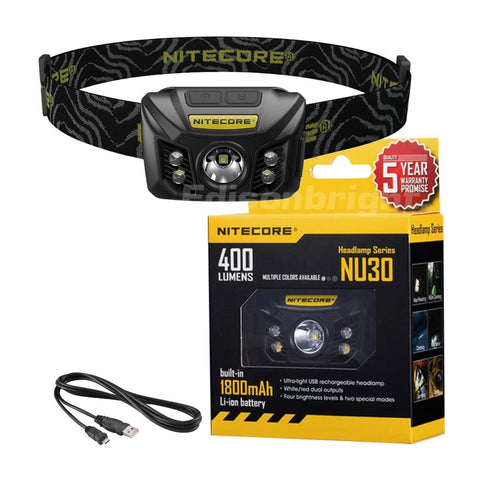 Nitecore NU30 400 Lumens USB Rechargeable Headlamp CREE XP-G2 S3 LED Built-In Li-Ion battery pack