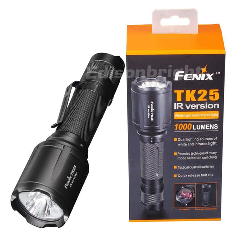 Fenix TK25IR 850nm IR with 1000 lumens CREE XP-G2 S3 LED Flashlight Uses 1x 18650 or 2x CR123A