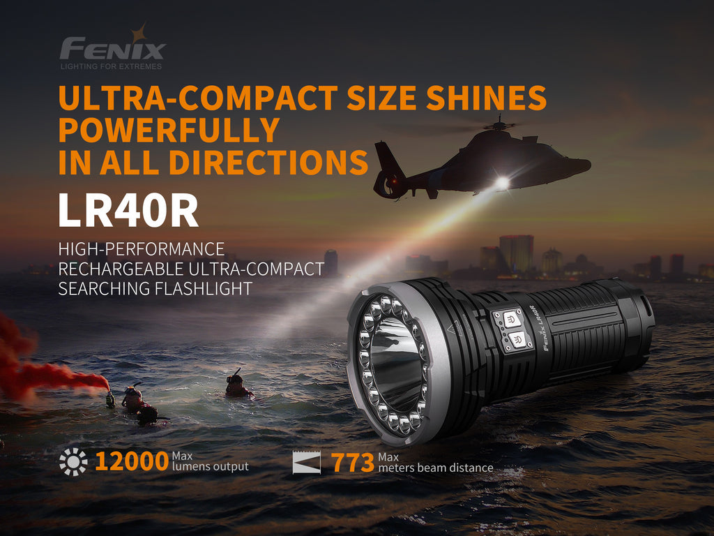 Fenix TK47UE 3200 Lumen CREE LED Police Flashlight wit SOS,RED Flasher