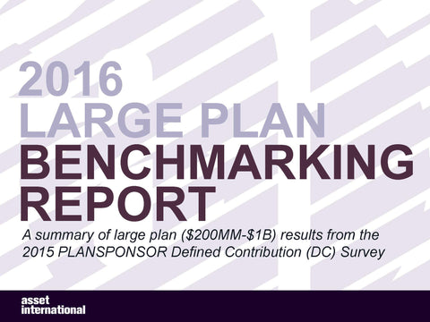 2016 Large Plan Benchmarking Report