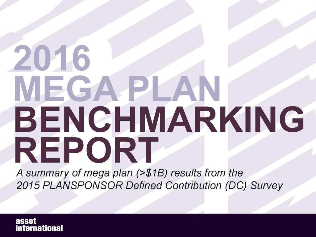 2016 Mega Plan Benchmarking Report