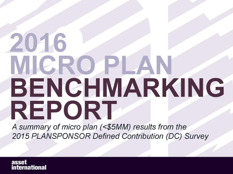 2016 Micro Plan Benchmarking Report