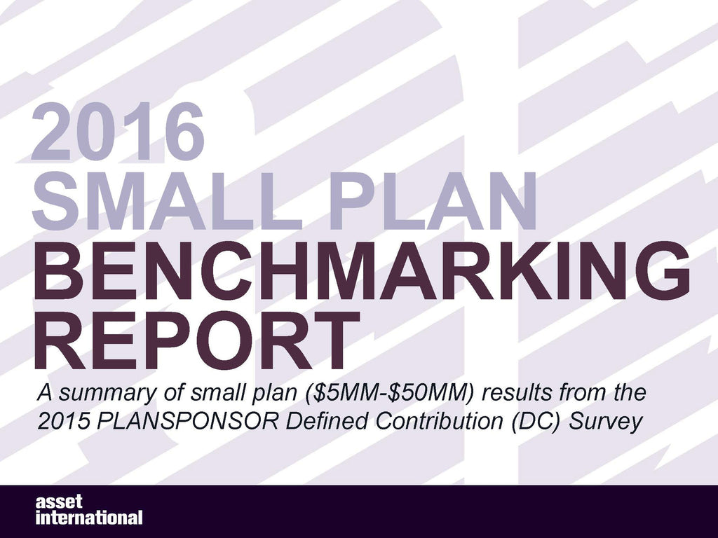2016 Small Plan Benchmarking Report