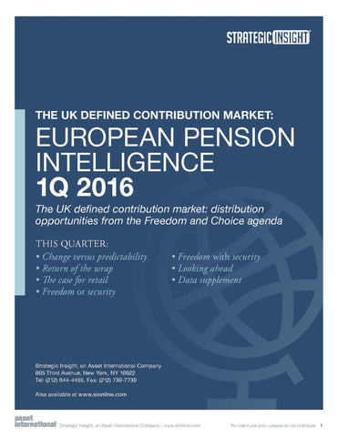 European Pension Intelligence 1Q 2016