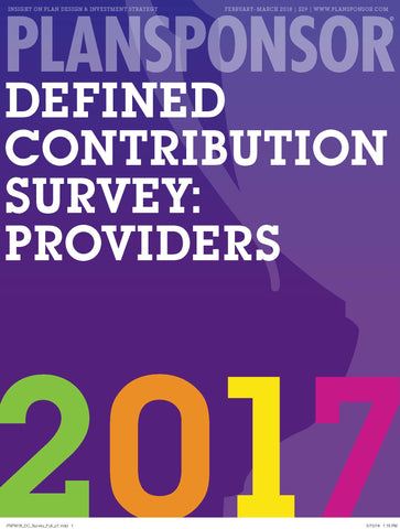 2017 Defined Contribution Survey: Providers