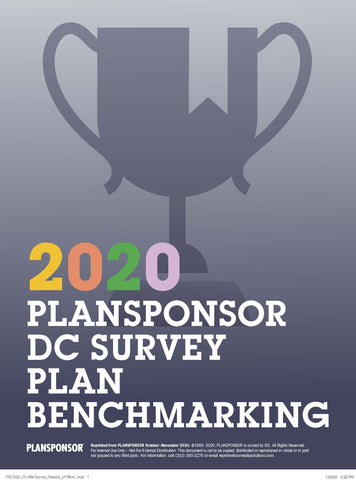 2020 DC SURVEY: PLAN BENCHMARKING