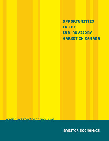 Opportunities in The Sub-Advisory Markets in Canada