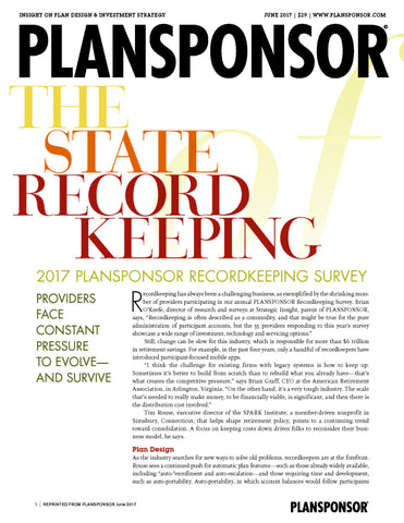 2017 Recordkeeping Survey