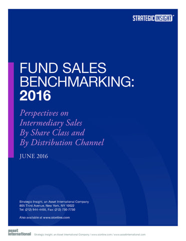 Fund Sales Benchmarking: 2016