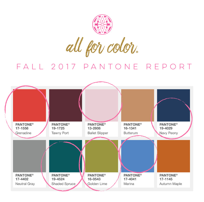 on trend with pantone all for color