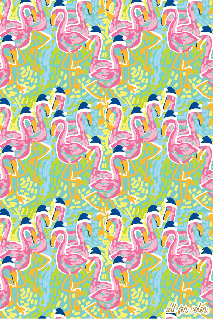 Flamingo Squad Wrapping Paper
