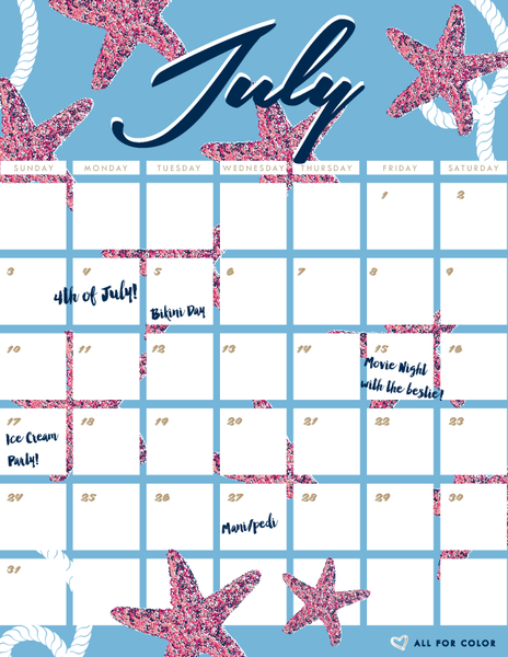 July to-do list