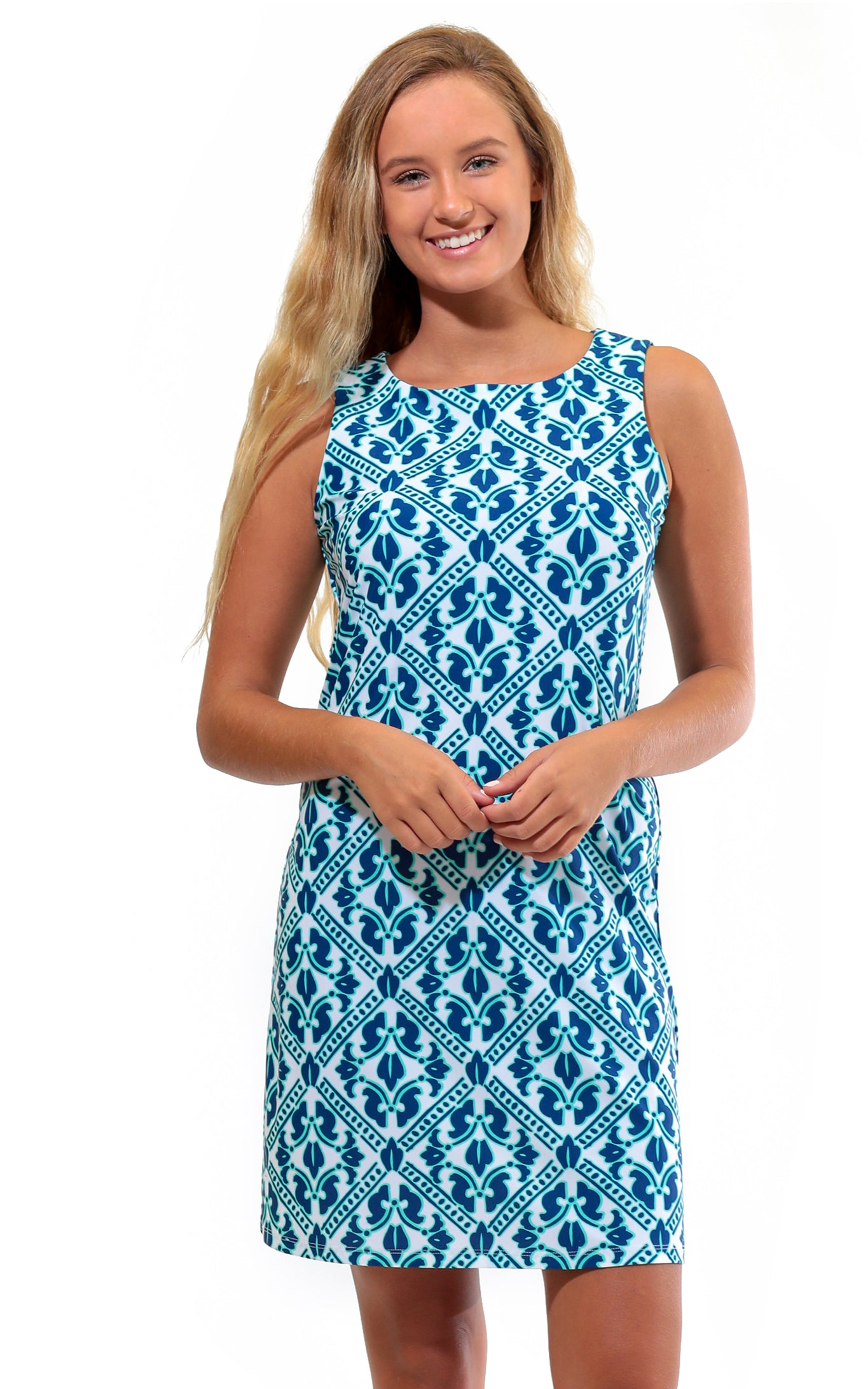 Aqua Trellis West Ave Shift Dress