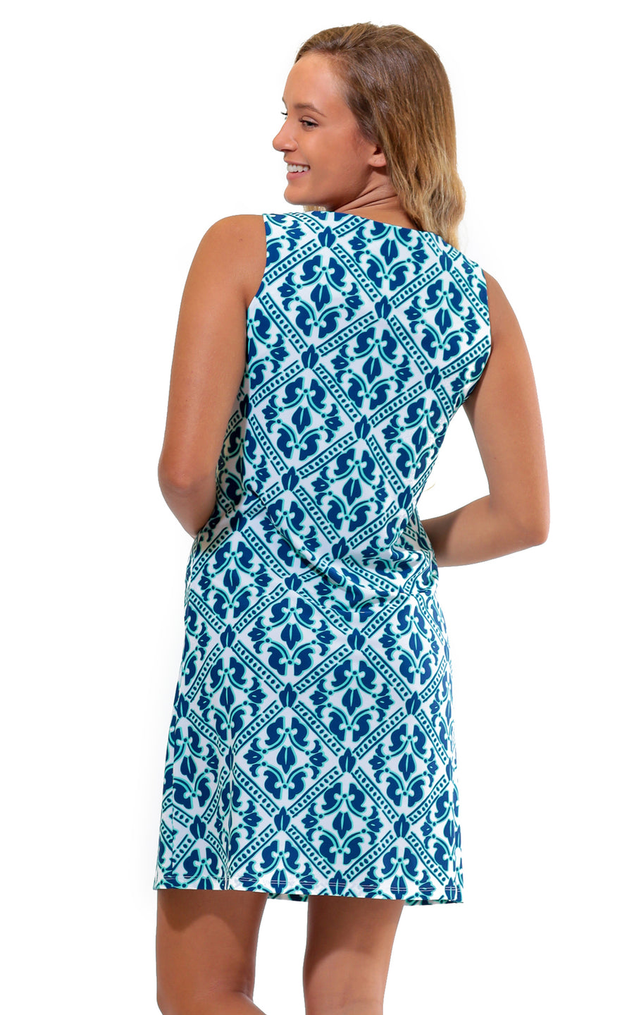 Aqua Trellis West Ave Shift Dress - FINAL SALE
