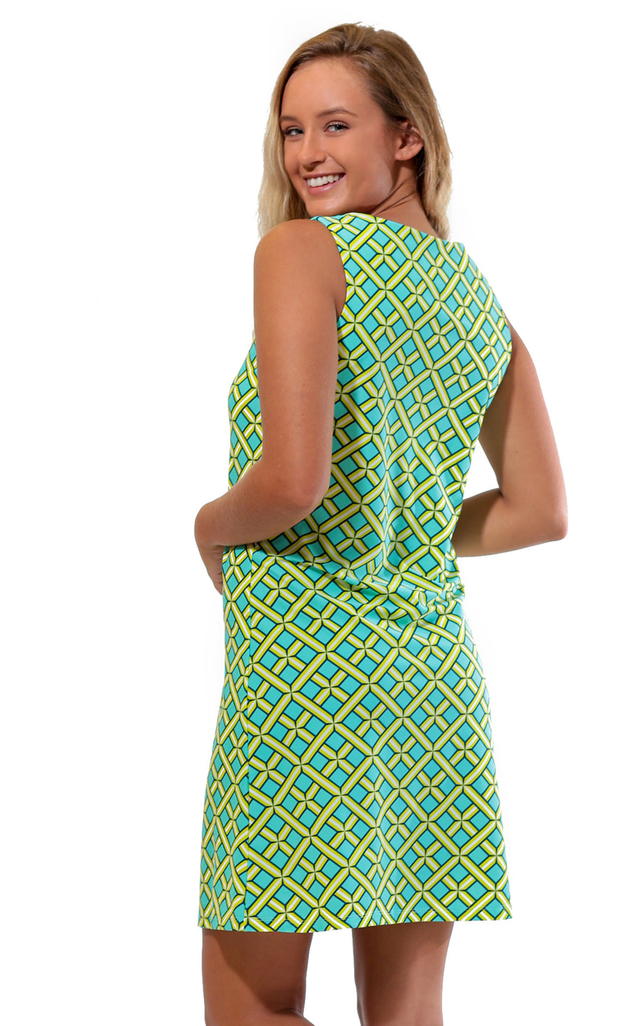 All For Color-Citrus Grove West Ave Shift Dress - FINAL SALE-Dresses