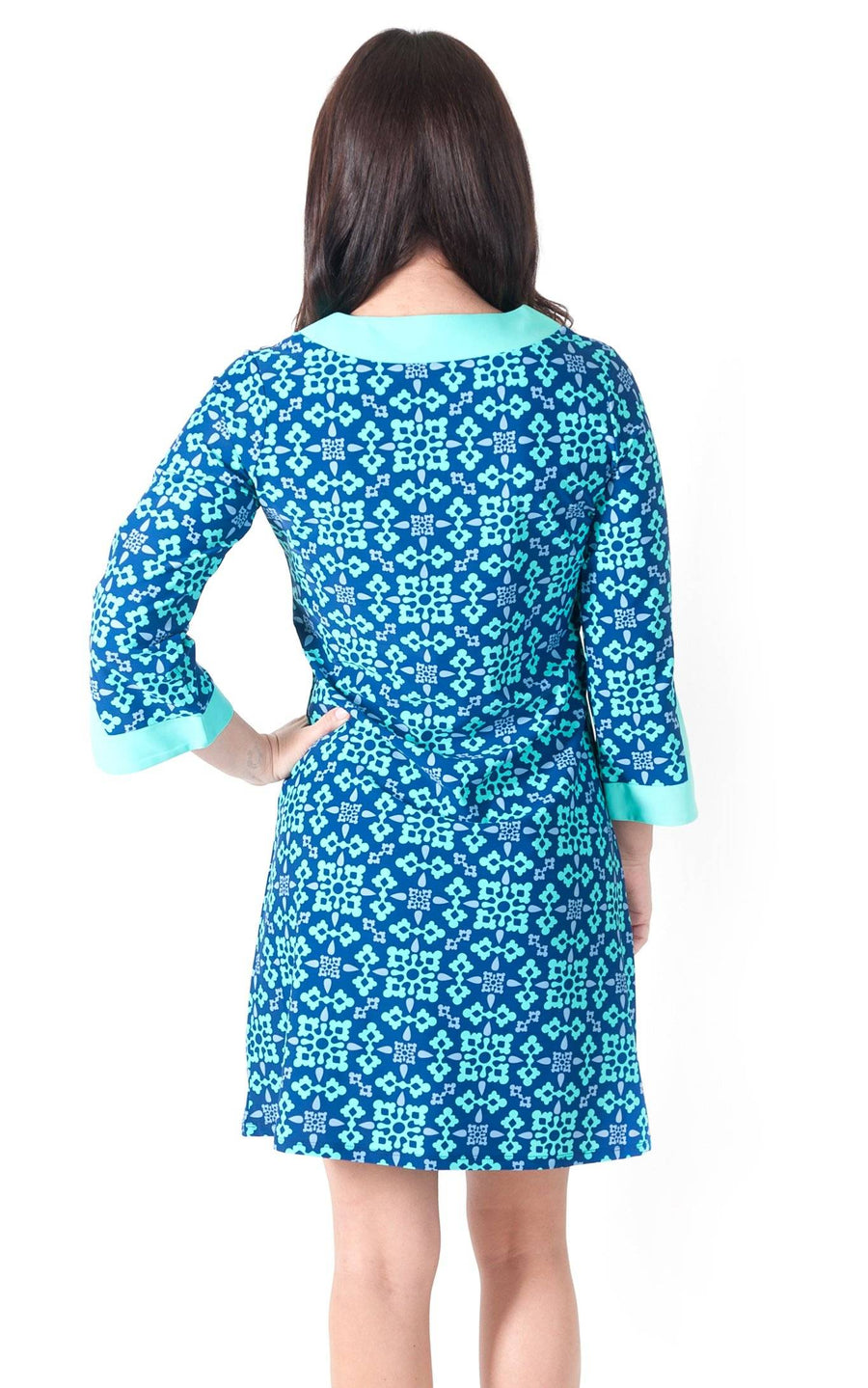 All For Color-Autumn Sky Prescot Lane Tunic Dress - FINAL SALE-Dresses