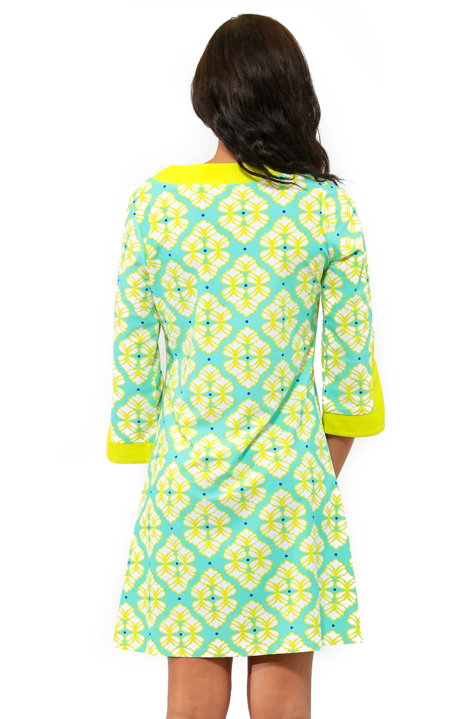 All For Color-Lime A Rita Prescot Lane Tunic Dress - FINAL SALE-Dresses