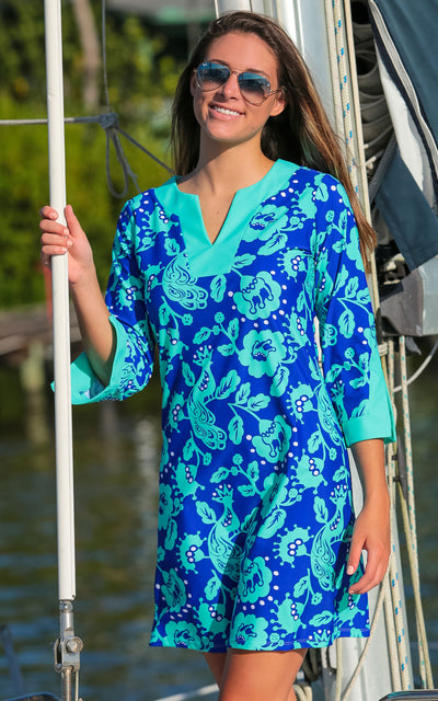 All For Color-Birds of a Feather Prescot Lane Tunic Dress - FINAL SALE-Dresses