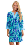 All For Color-Bahama Blue Prescot Lane Tunic Dress-Dresses