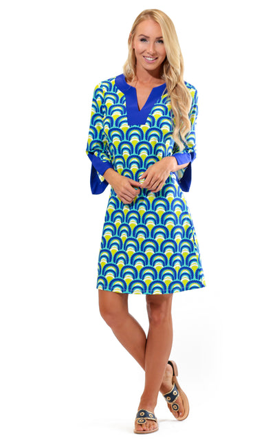 All For Color-Sea Fan Prescot Lane Tunic Dress-Dresses