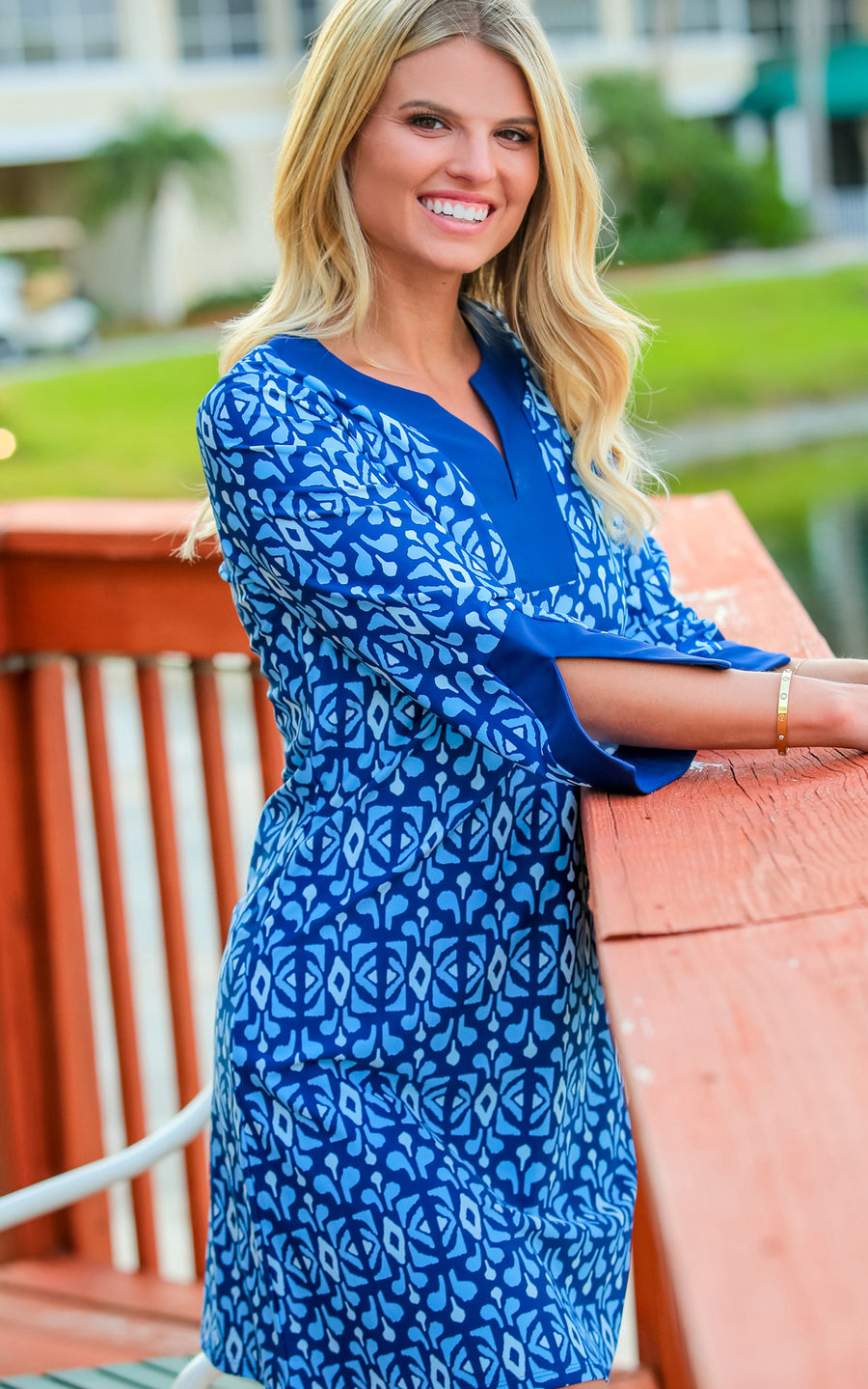 Midnight Blue Prescot Lane Tunic Dress