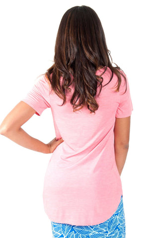 All For Color-Coral Tunic T Shirt-Tops