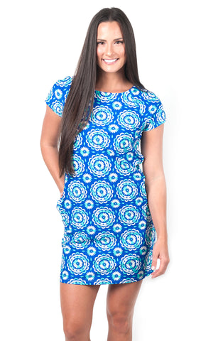 Dockside Dream Harbor Place Cap Sleeve Dress