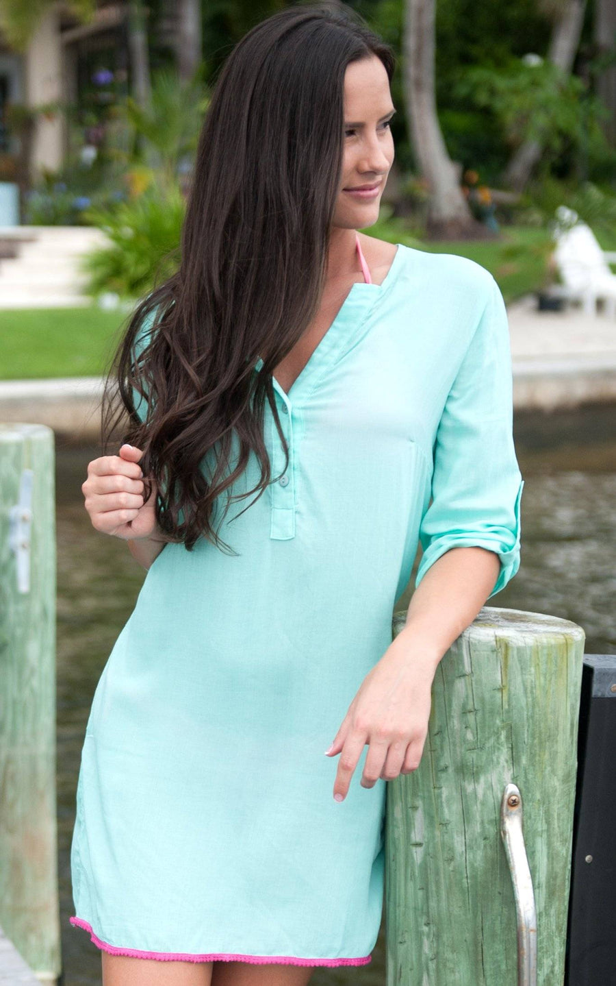 Turq Tunic Dress - FINAL SALE