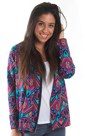 Ultra Prism Brooklyn Diagonal Zip Cardigan