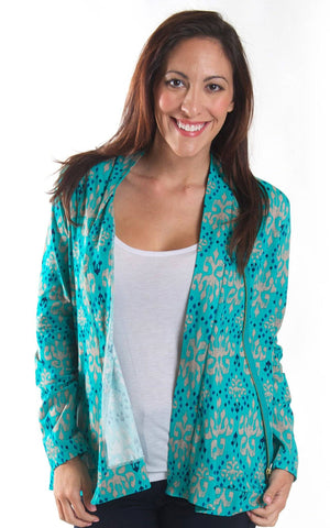 Jasmine Jewel Brooklyn Diagonal Zip Cardigan