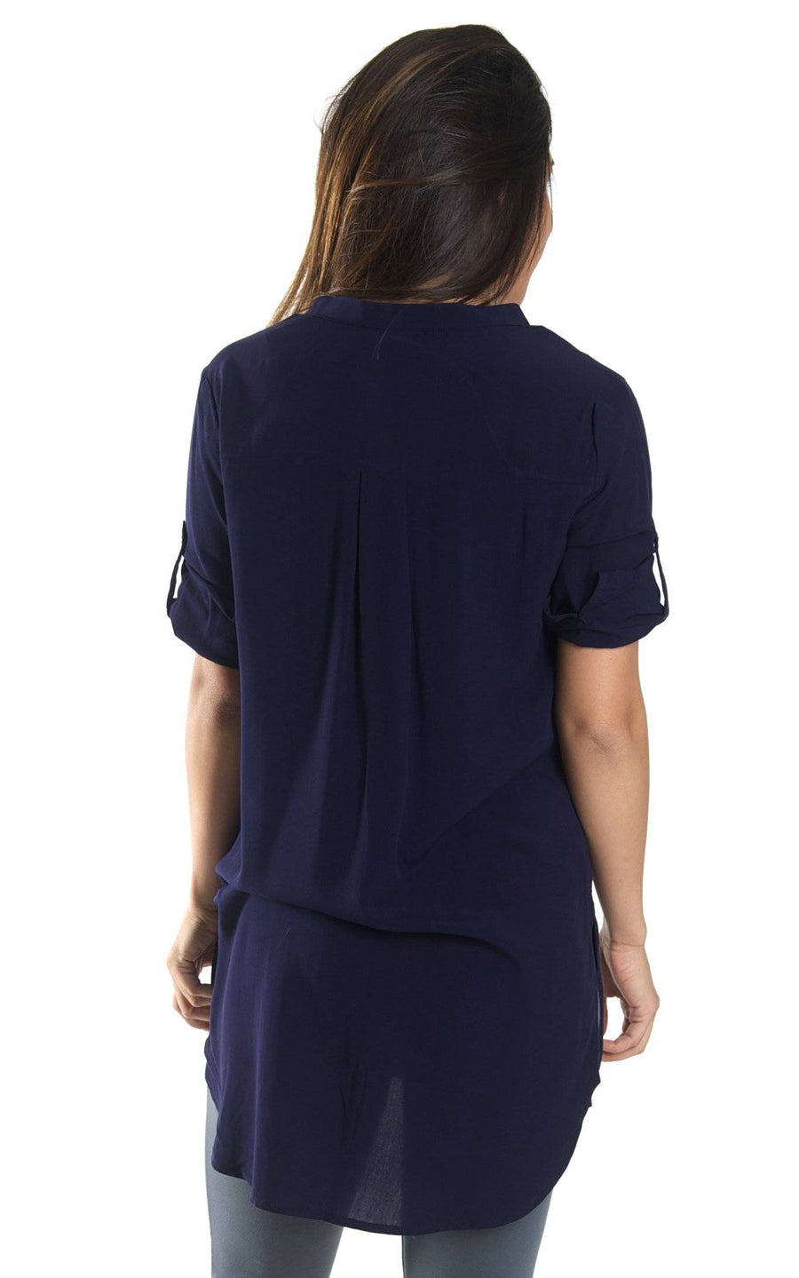 Navy Avery High Low Tunic - FINAL SALE