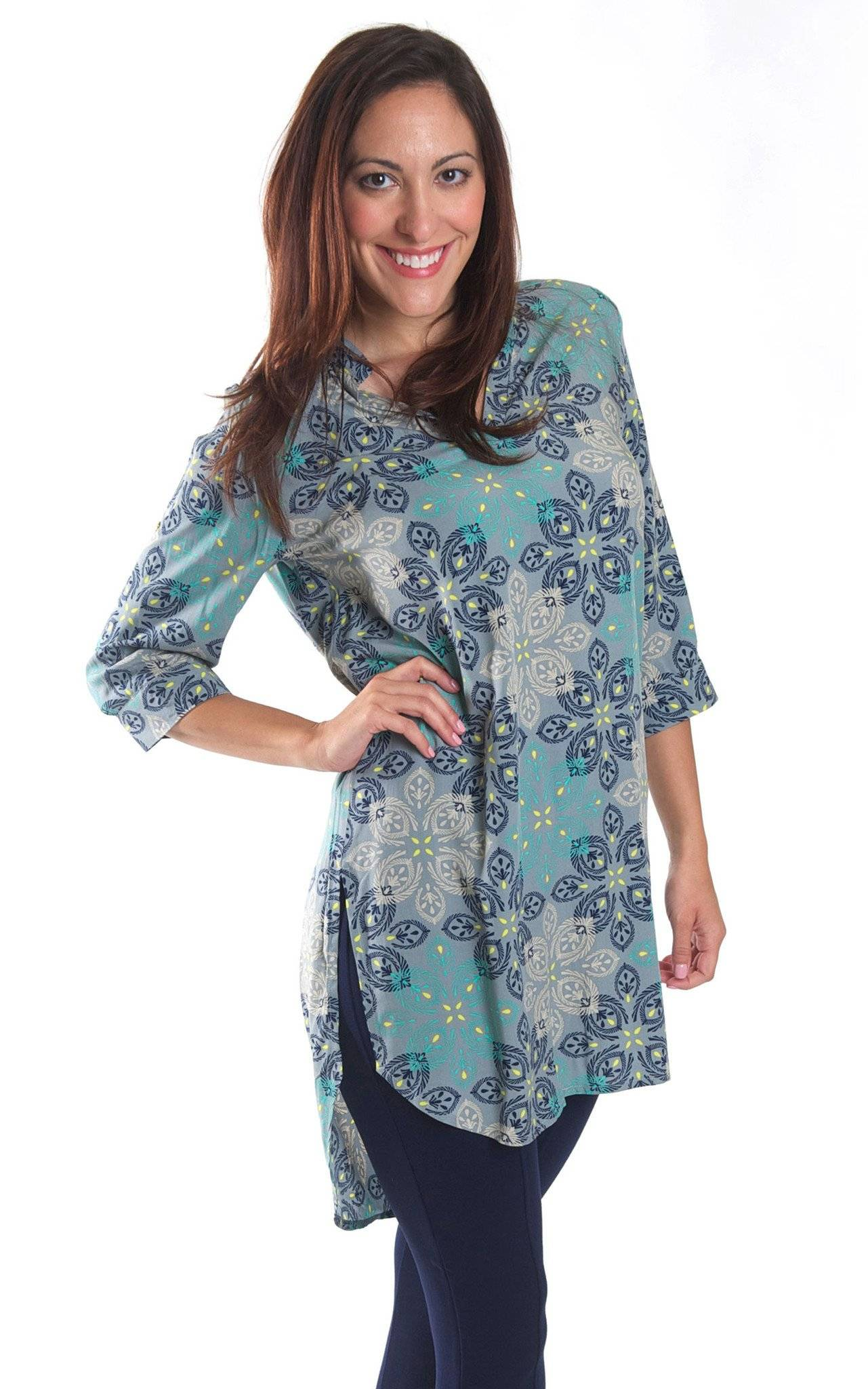 Silver Mist Avery High Low Tunic